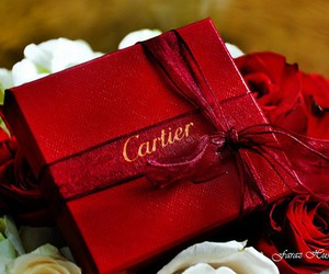 cartier, red, and gift image