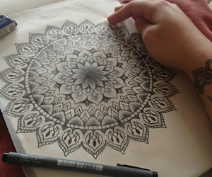black, doodle, and drawing image