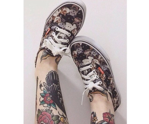 tattoo, vans, and cat image
