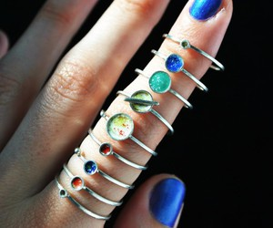 planet, rings, and nails image