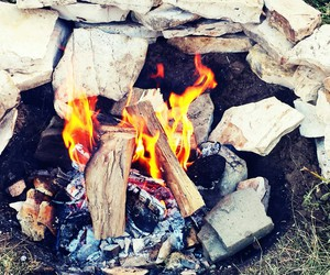campfire, countryside, and albania image