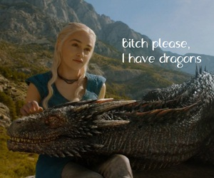 bitch, blond hair, and dragons image