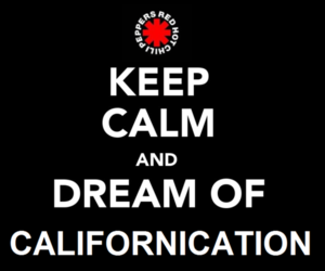 red hot chili peppers, rhcp, and keep calm image
