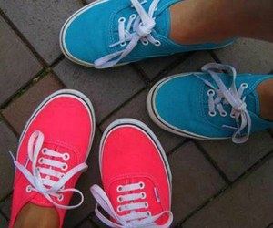 vans, blue, and fashion image