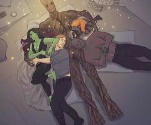 groot, gamora, and Marvel image