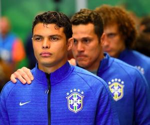 brazil, thiago silva, and world cup image