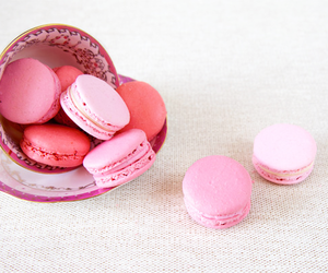 pink, macarons, and sweet image