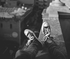 converse, city, and shoes image