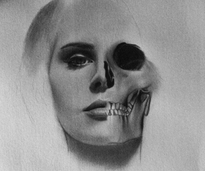 lana del rey, black and white, and draw image