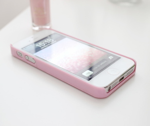 iphone, pink, and phone image