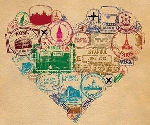 travel, heart, and paris image