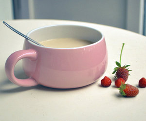 pink, strawberry, and cup image
