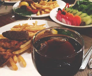 dinner, food, and fries image