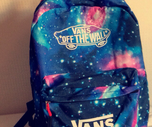 galaxy, vans, and bag image