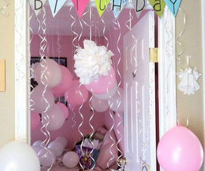 balloons, decoration, and gift image