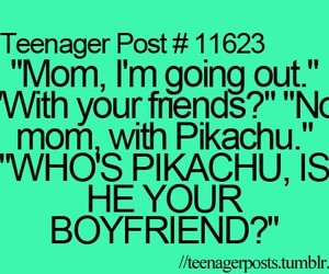 pikachu, boyfriend, and mom image