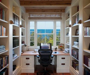 desk, places, and sea image