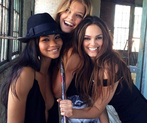 girl, model, and friends image