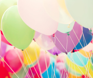 birthday and balloons colourful image