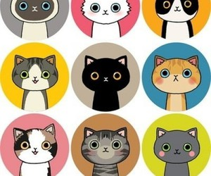 cat, art, and kitten image