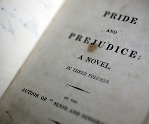 pride and prejudice, book, and jane austen image