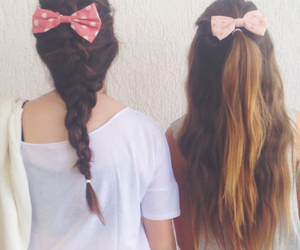 best friends, bff, and bows image