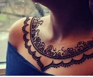 henna and black image