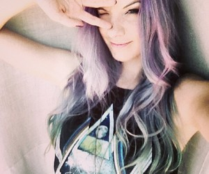 hippie, mermaid, and hair color image