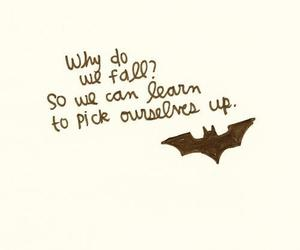 quote, batman, and fall image