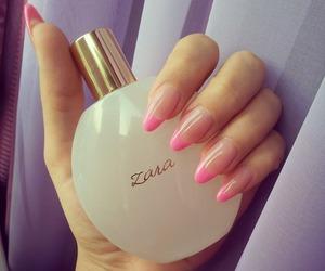 nails, Zara, and pink image
