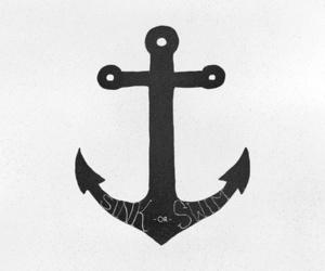 anchor, art, and coastal image