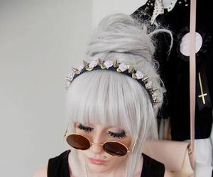 hair, pastel goth, and white image