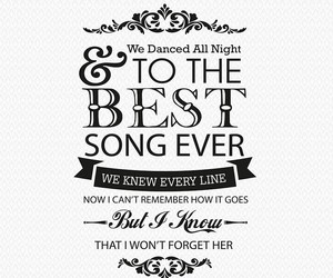 Lyrics, best song ever, and one direction image