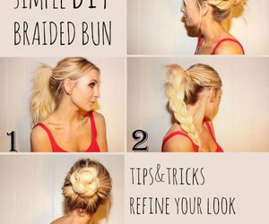 diy, hairstyle, and cute image