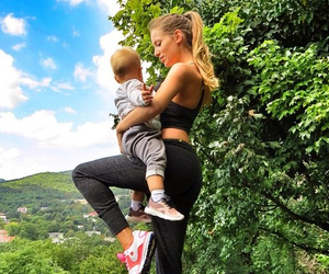 fitness, mother, and nature image
