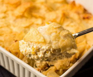 casserole, cheese, and corn image