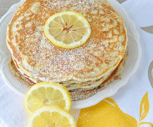 breakfast, lemon, and pancakes image
