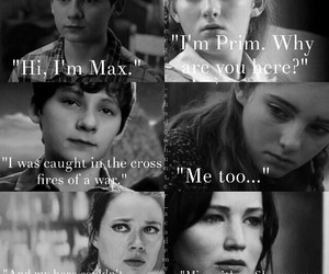 the hunger games, prim, and max image