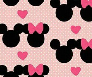 mickey, pink, and minnie image