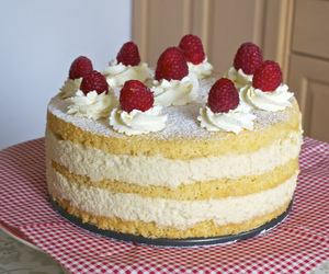 cake, sponge cake, and mousse image