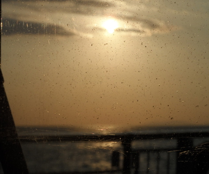 boat, ferry, and sun image