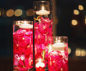 candles, flowers, and sweet 16 image