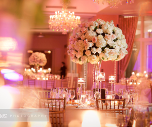 centerpiece, floral, and flowers image