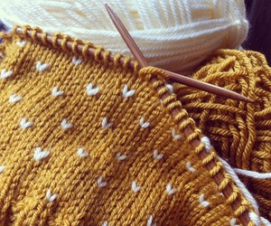yellow, knitting, and aesthetic image