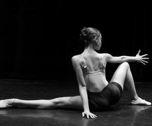 black and wite and modern dance image