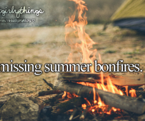 bonfire, summer, and just girly things image