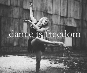 black and wite, freedom, and modern dance image