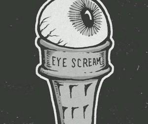 eye, ice cream, and scream image