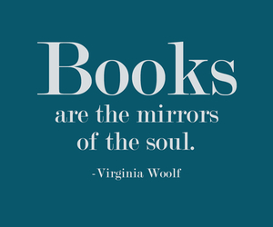 book, mirror, and quotes image