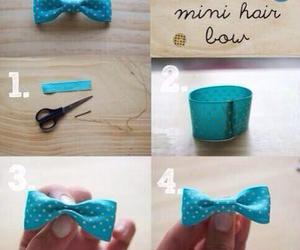 diy, bow, and hair image